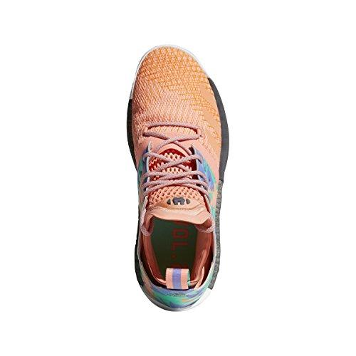adidas Harden Vol. 2 California Dreamin Shoe - Men's Basketball 15 Chalk Coral/Hi Res Green/White