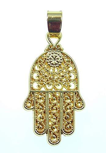 Anhänger, Hand der Fatima, Symbol allschützendes Auge, 18 Karat vergoldet, 2,6 cm lang,Versand innerhalb 24 Stunden !!!