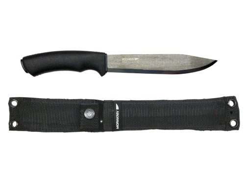 Morakniv Bushcraft Pathfinder Knife with 6.75-Inch Carbon Steel Blade and Heavy Duty MOLLE-Compatible Sheath