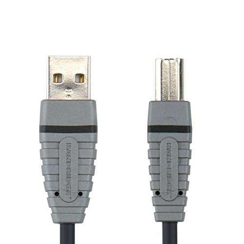 Bandridge BCL4101 - Cable USB (1 m, USB A, USB B, Male Conne