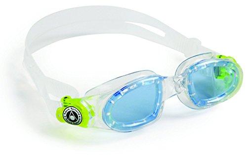 Aqua Sphere Moby Kinder-Schwimmbrille w/ Blaue Tönung - Klar Ausgezeichnet zum Schwimmen geeignet (Blau/Lime)