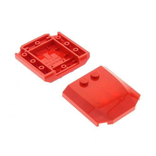 2 x Lego System Motorhaube rot 4 x 4 x 2/3 Auto Zug Dach Haube 45677