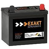 EXAKT 12V 35Ah 330A Rasentraktor Aufsitzmäher Batterie Aufsitzrasenmäher Motorrad Starterbatterie statt 30Ah 32Ah (35Ah Plus Rechts)
