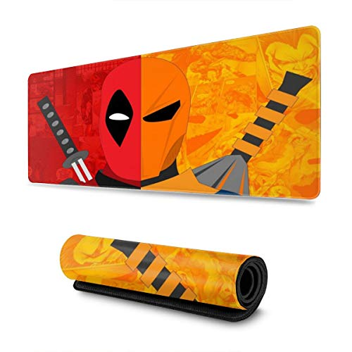 Dead_Pool Arkham Gaming Mouse Pad Large Custom Mousepad Pads for Laptop Computer,12x31.5 Inch Desk Cover Computers Keyboard Stitched Edges Office Ideal Mouse Mat