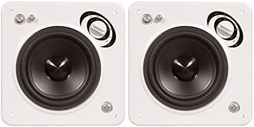 Find Discount 2 x PhaseTech CI15 Black 3 in-Wall Square Speaker 120W 8Ohm Home Audio