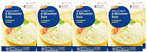 tegut... Parboiled Spitzen-Langkorn 8 Minuten-Reis im Kochbeutel, 8er Pack (8 x 500 g)
