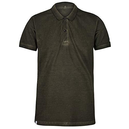 Regatta Polo 100% Coton Organique écologique Taiden boutonné au Cou T-Shirts Vests Homme, Camo Green, FR : S (Taille Fabricant : S)