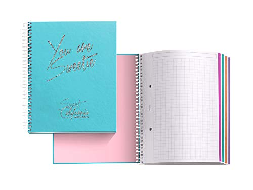 Chic&Love Sweet California - Cuaderno con 120 hojas y cuadrícula, A5