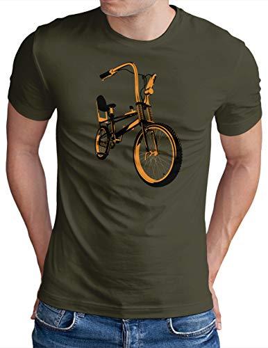 OM3® Bonanza Fahrrad T-Shirt   Herren   Retro Vintage Rad Bonanzarad II   Oliv, M