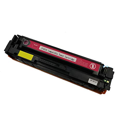 Compatible para HP CF400A 201A Cartucho de tóner de repuesto para HP Color Laser Jet M252dw M252n MFP M277dw M277n M274n, con chip-magenta