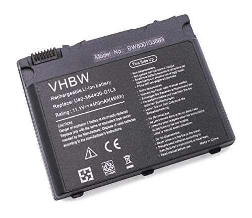 vhbw Akku passend für Gericom Phantom A4 Superlight Series Laptop Notebook (Li-Ion, 4400mAh, 11.1V, 48.84Wh, schwarz)