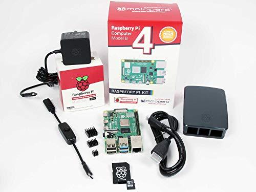 Melopero Raspberry Pi 4 Computer Official Premium KIT (8GB RAM, Black)
