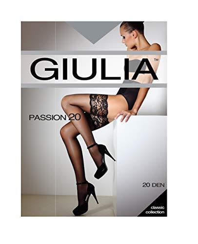 Giulia Passion 20 Halterlose Strümpfe mit Breitem Spitzenabschluss 3/4 - M/L (5'5