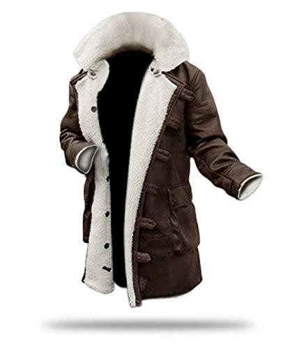 Bane Coat Bomber Shearling Winter Men's Brown Coat – Swedish Bomber Jacket (l)
