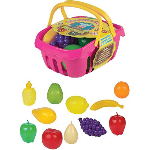 Brincando De Casinha Cesta De Frutas Braskit Multicor