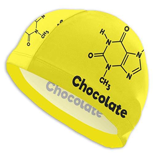 HFHY Chocolate Molecule Chemistry Science Adult Summer Time Beach Bath Caps for Men Women Unisex