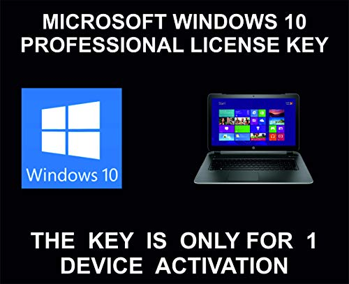 10 Professional License Key, Genuine, For 1 Device Activation