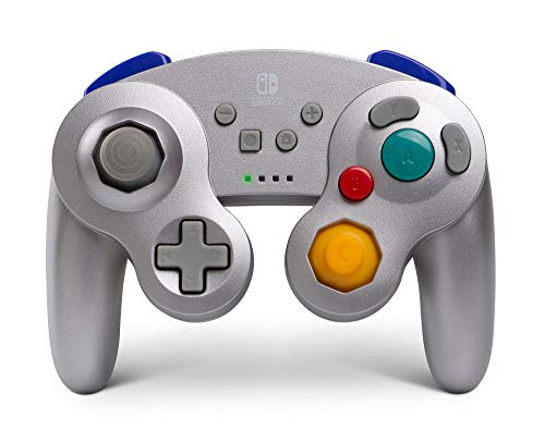 PowerA Wireless Controller for Nintendo Switch - GameCube Style: Silver - Nintendo Switch