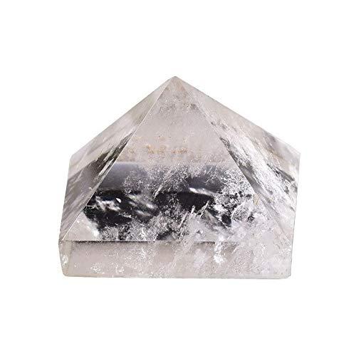 LOMAX Natürliche Natürliche Fluorit Kristallpyramide Quartz Heilstein Chakra Reiki Kristall Tigerauge Punkt Home Decor Crafts of Edelstein 1PC Urlaub Geschenke (Color : Rock Crystal Quartz)