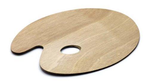 Paleta de madera auténtica palé redondo 25cmx30cm Paleta para sintética y Pintar