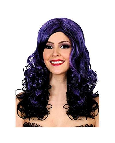 Halloween Perruque noir-violet