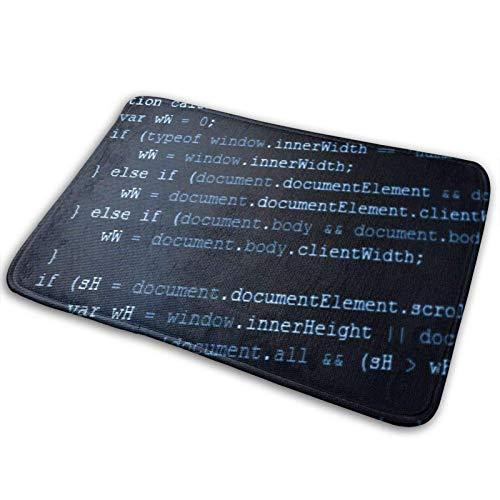 Felpudo de Bienvenida,Alfombrilla de baño,código de programación de computadora,información artística,Alfombra Antideslizante para el Piso de Entrada,Alfombrilla para Puerta Delantera para Interiores