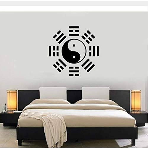 cptbtptp Filosofía China Oriental Pegatinas de Pared de Vinilo Wallpaper Yin Yang Taiji Tatuajes de Pared Cultura China Decoración Mural Dormitorio 42x42 cm