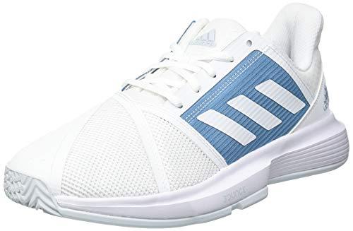 adidas CourtJam Bounce M, Zapatillas de Tenis Hombre, FTWBLA/FTWBLA/AZUBRU, 45 1/3 EU