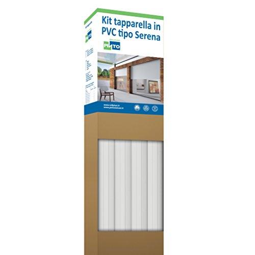 Rollplast PVCKTSEC0100123016001 rolluiken van PVC Serena, gewicht ca. 4,50 kg/m². Eenvoudig te monteren, zuinig en duurzaam. Kleur: wit.
