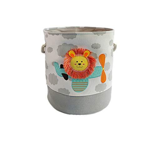 LLSPHYDY Cesta de lavandería Cesta de lavandería Plegable Lona de Juguete Cesta de Almacenamiento Grande de Gran Capacidad para Ropa de bebé y Ropa Sucia