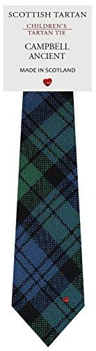 I Luv Ltd Garçon Tout Cravate en Laine Tissé et Fabriqué en Ecosse à Campbell Ancient Tartan