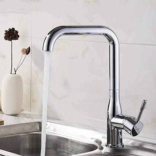 Wasserhahn Wasserhahn Küchenarmatur Galvanisieren Chrom Moderne Küchenarmatur Mischbatterie Keramik Ventileinsatz Einzelhalter Einloch