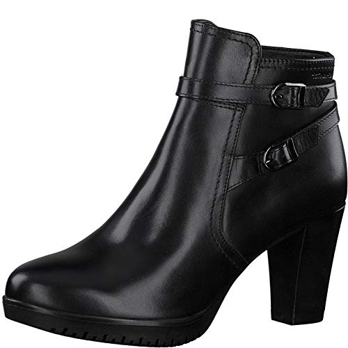Tamaris Damen Stiefeletten, Frauen Ankle Boots, weiblich Ladies Women's Women Woman Freizeit leger Stiefel halbstiefel Bootie,Black,40 EU / 6.5 UK