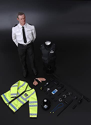 Action Figure Male Police Model Toys, 1/6 12 inch London Vision Hall, UK Soldier Model PVC Modell Puppe Geschenk Für Fotografie, Hobby und Sammlung