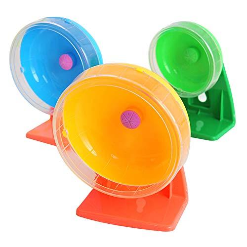 XuBa Lautloses laufendes Spinner-Rad-Hamster-Mäuseratten-Übungs-Spielzeug mit Klammer Medium: 14CM Random Color