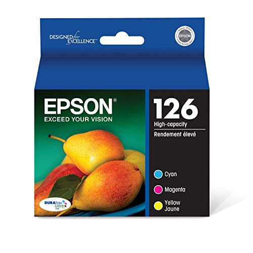 EPSON T126 DURABrite Ultra Ink Standard Capacity Color Combo Pack (T126520-S) for select Epson Stylus and WorkForce Printers