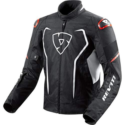 REV'IT! Motorradjacke mit Protektoren Motorrad Jacke Vertex H2O Textiljacke schwarz/weiß/rot XXL, Herren, Sportler, Ganzjährig
