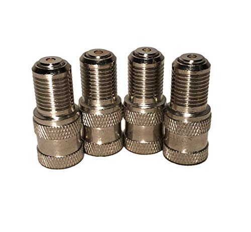 KEX Set of 4 Double Seal Inflate Through Type Valve caps for Trucks, RVs, and Semi's