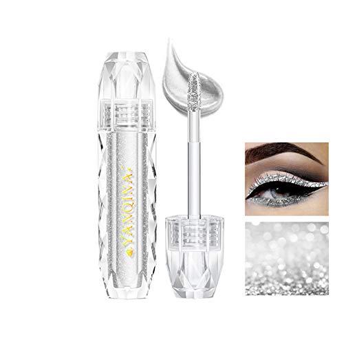 Sombras De Ojos Brillantes De Diamante YINGEE Sombra De Ojos Líquida De Larga Duración Brillante Impermeable Liquid Eyeshadow Lentejuelas Delineador De Ojos Maquillaje De Ojos (01)