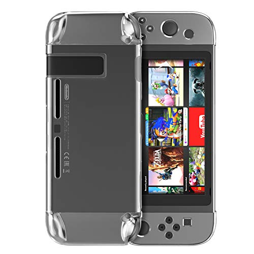 MoKo Compatibile con Nintendo Switch Case, Set Custodia Protettiva Cover Traspante Rigida Antiurti Antigraffi Accessori Protezione per Switch Console (2017) - Trasparent