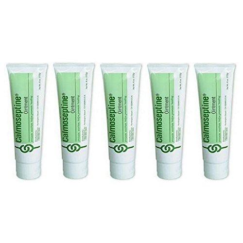 Calmoseptine Ointment Tube to Heal Skin Irritations  4 Oz Pack of 5