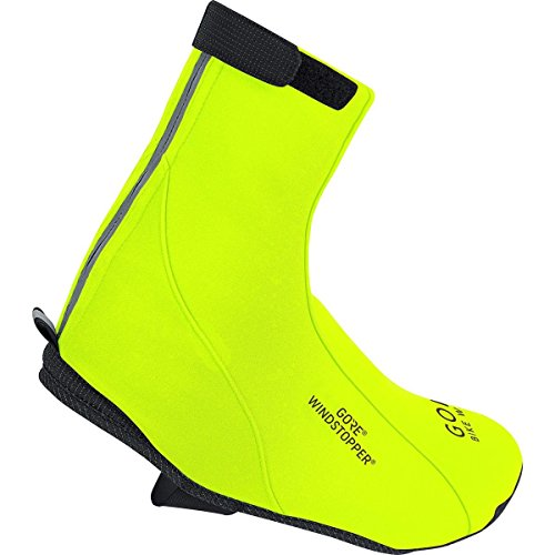 GORE BIKE WEAR Road Windstopper Soft Shell - Botin de ciclismo, color amarillo, talla 48-50