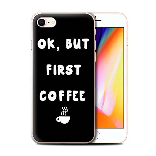 Stuff4 Telefoonhoesje/Cover/Skin/IP-CC/Grappig Meisje/Vrouw Citaat Collectie Apple iPhone SE 2020 OK Maar Eerste Koffie