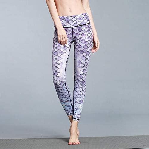 YJKJSK Nouveau Femmes Pantalons De Yoga Impression Taille élastique Pantalon De Sport en Plein Air Pantalon Long Pantalon Femme FonctionneHommest Fitness Tight Sport Leggings