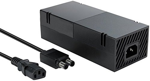 Xbox One Power Supply Brick, (Quite Version) AC Adapter Cable Replacement Kit for Xbox 1 Console Games, Auto Voltage 100-240V, Black