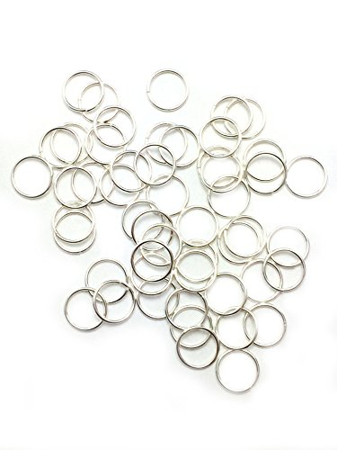 50 Sterling Silver Round Open Jump Rings 6.0mm 24 Gauge by Craft Wire