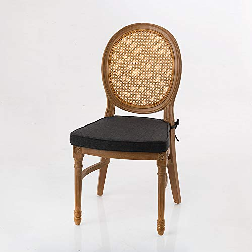 Amadeus - Chaise Stackable Gris foncé 50 cm x 103 cm x 61 cm (Lot de 4)