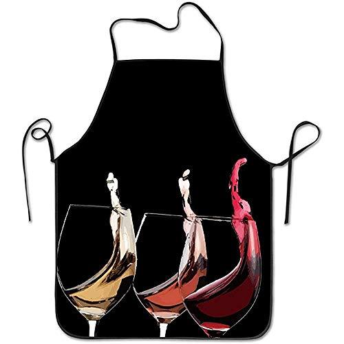 GWrix Unisex DREI beker wijnschort voor dames en heren 100% polyester Durable Bib Chef keukenschorten
