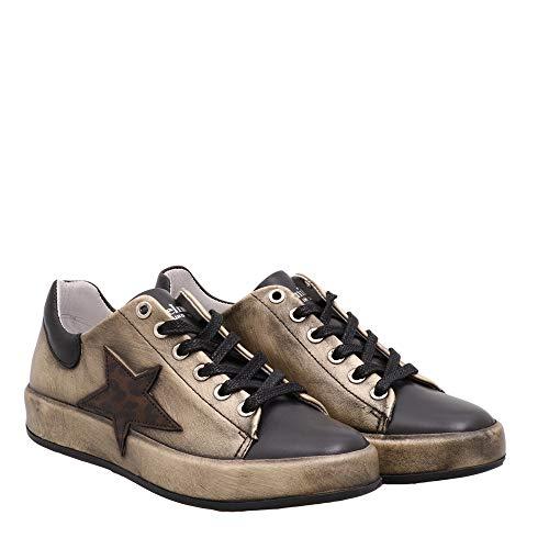 Felmini - Damen Schuhe - Verlieben Trump C728 - Sneakers - Echtes Leder - Mehrfarbig - 40 EU Size
