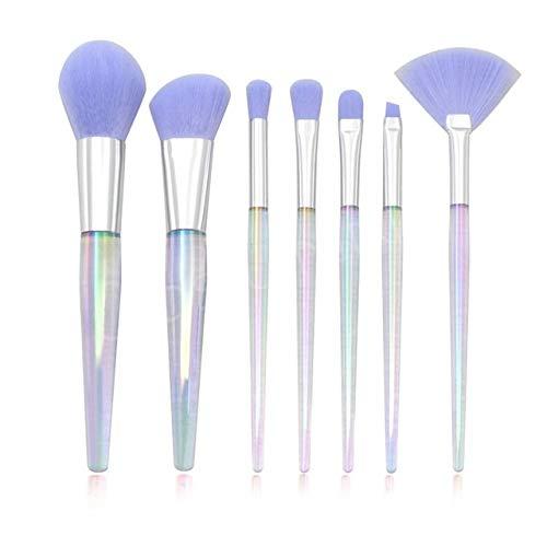 PoplarSun 7pcs Unicorn Maquillage Pinceaux Flash Modifier Poignée Fondation Visage d'alimentation Eye Beauty Cosmetic Outil